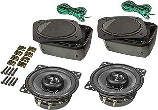 tomzz Audio 4000 010 Retro Look Aufbau Lautsprecher Satz im Gehäuse DIN 100mm Lautsprecher 2 Wege Koaxial System 80 Watt