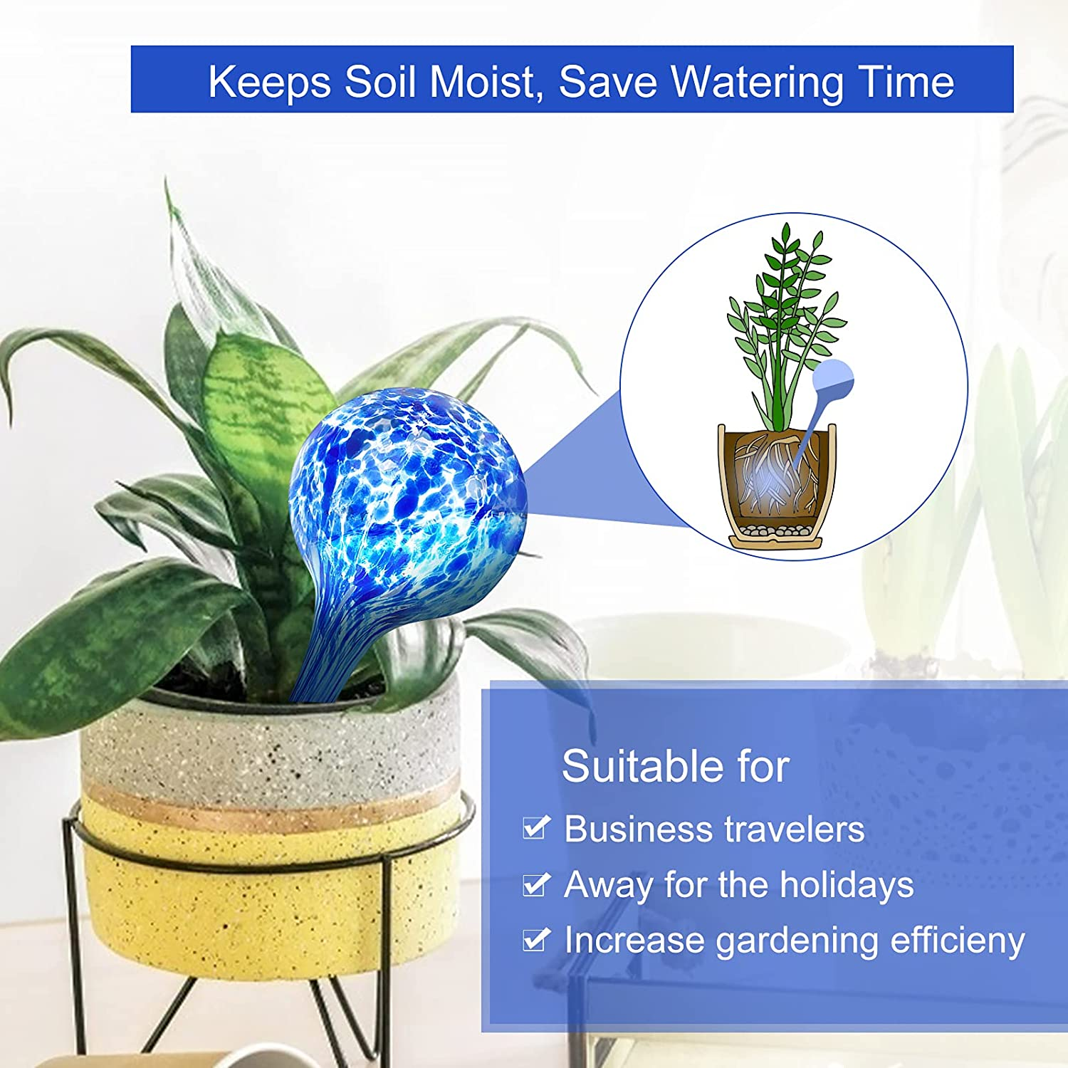 Buy Plant Watering Globes Watering System Self Watering Spikes for ...
