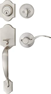 AmazonBasics Handleset with Shelby Lever - Single Cylinder - Satin Nickel