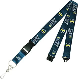 Utah Jazz PSG Blue Premium Lanyard 2-Sided Breakaway Clip Keychain Basketball