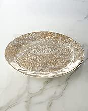 Juliska Firenze Marbleized Firenze Gold & Platinum Charger - Server Plate