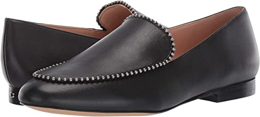 COACH Harper Beadchain Loafer,Black Leather