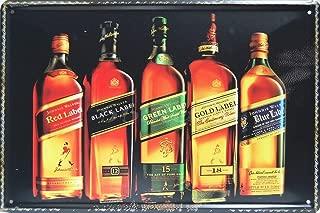 BESTWD Johnnie Walker, Whiskey Metal Tin Sign Size 8x12 inch