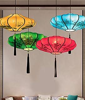 Chambre Suspensions Lampe,Lustres Salon,Luminaire Pendante Salle À Manger,Éclairage De Plafond Bureau,Lanterne Peinte À La...