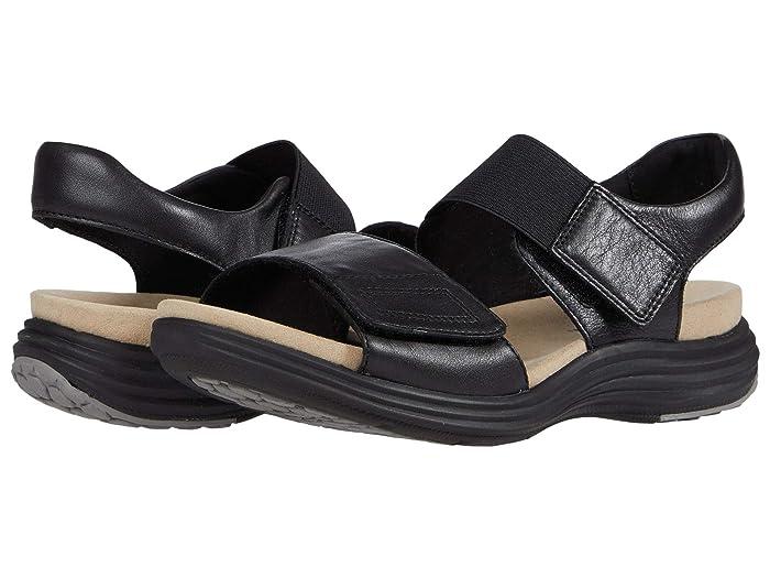 Aravon  Beaumont Two Strap (Black) Womens Sandals