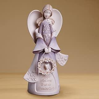 Enesco 4014325 Foundations Grandmother Angel Stone Resin Figurine, 7.5