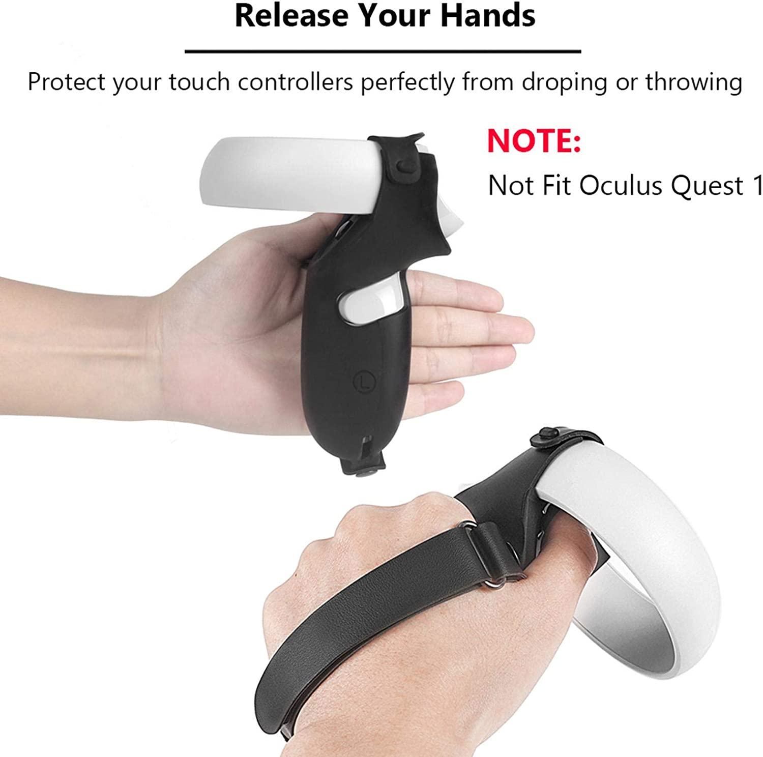 VR Controller Grip Skin Cover Waterproof Protector Case for Oculus Quest 2 VR Handle Non-Slip Silicone Sleeve Protective Case