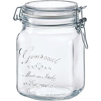アデリア ガラス 保存瓶 角型 クリア 1000ml フーディージャーBOR イタリア製 H-7558