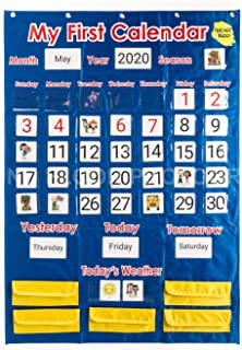 Teacher Buddy Calendar and Weather Pocket Chart: Classroom Resources for Learning, Organization, Supplies, Season