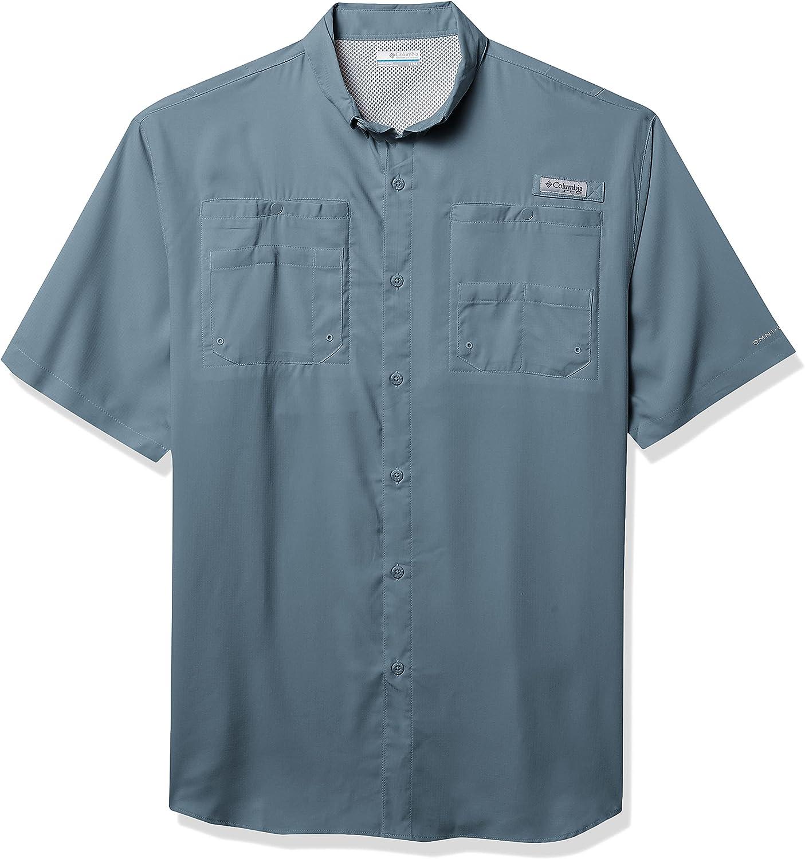 Columbia Men's Tamiami Ii UPF 40 Excellence Shirt Sleeve Fishing Short favorite PFG