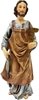 Biagio Saint Joseph Home Selling Kit Statue, 4.5-Inch Coloured Figurine with Instructions and Prayer