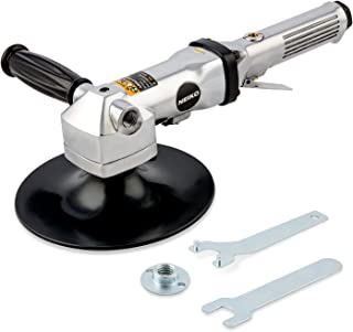"""Neiko 30069A Heavy Duty 7"""" Pneumatic Air Angle Polisher   Variable Speed   90 PSI   1,500-2,600 RPM"""
