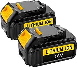 Energup 2 Pack 5.0Ah 18V Max XR Lithium Ion Battery Replacement for Dewalt DCD/DCF/DCG Series DeWalt DCB204 DCB205 DCB180 DCB200