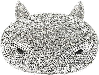 Womens Purse-Clutches Diamante Sequin Evening-Bags Ladies Luxury Chain 3D Sparkle Bridal Prom Fox