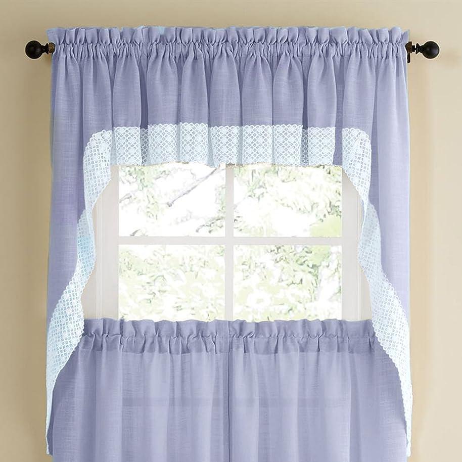 Salem Kitchen Curtain - Swag Pair Blue