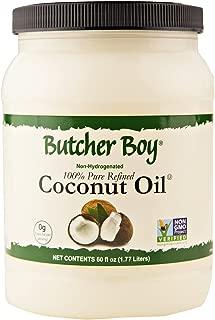Butcher Boy 76f 100% Pure Refined Coconut Oil 60 Oz. (60 Oz. X 1 Container)