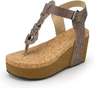 d1acb972e Sandalias Mujer Cuña Alpargatas Plataforma Bohemias Romanas Flip Flop Mares  Playa Gladiador Verano Tacon Planas Zapatos