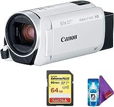 Canon VIXIA HF R800 Camcorder (White) + Pro Memory Card