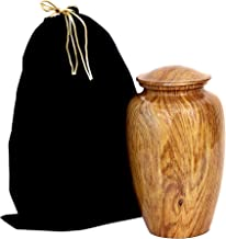 hlc Wooden Print Cremation Urn for Human Ashes - Adult Funeral Urn Handcrafted - Affordable Urn for Ashes (Adult (200 lbs)...