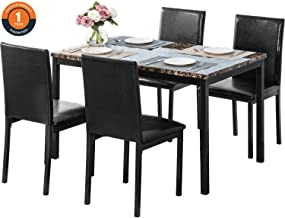 Best dining table upholstered chairs Reviews
