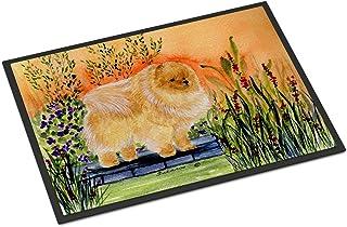 """Caroline's Treasures SS8161MAT Pomeranian Indoor Outdoor Doormat, 18"""" x 27"""", Multicolor"""