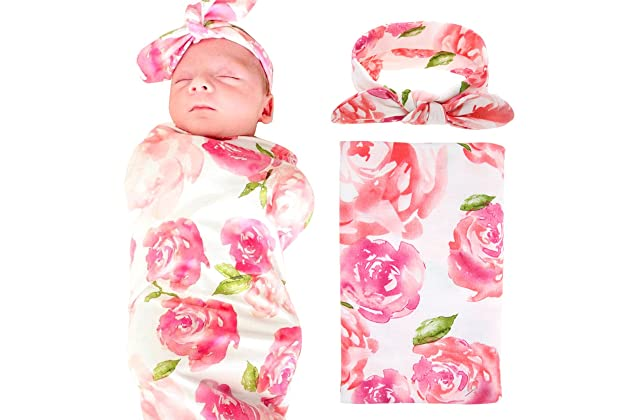 Baby Accessories Pink Baby Headband With Small Flowers Fragrant Aroma