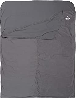 TETON Sports Sleeping Bag Liner; A Clean Sheet Set Anywhere You Go; Perfect for Travel, Camping, and Anytime You're Away f...