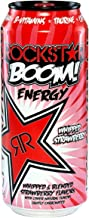 Rockstar BOOM! Energy Drink, Whipped Strawberry, 16 Ounce (Pack of 24)
