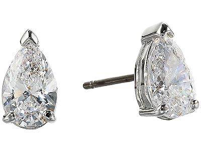 Swarovski Attract Pear Stud Pierced Earrings (Silver) Earring