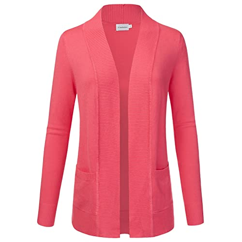 JJ Perfection Women s Open Front Knit Long Sleeve Pockets Sweater Cardigan b8fe19e3f