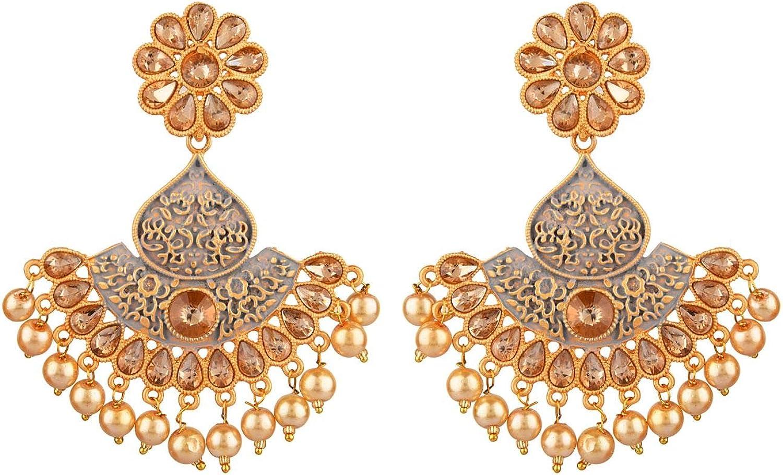 Efulgenz Indian Bollywood Antique Gold Max 76% OFF Trust Faux C Pearl Wedding Tone