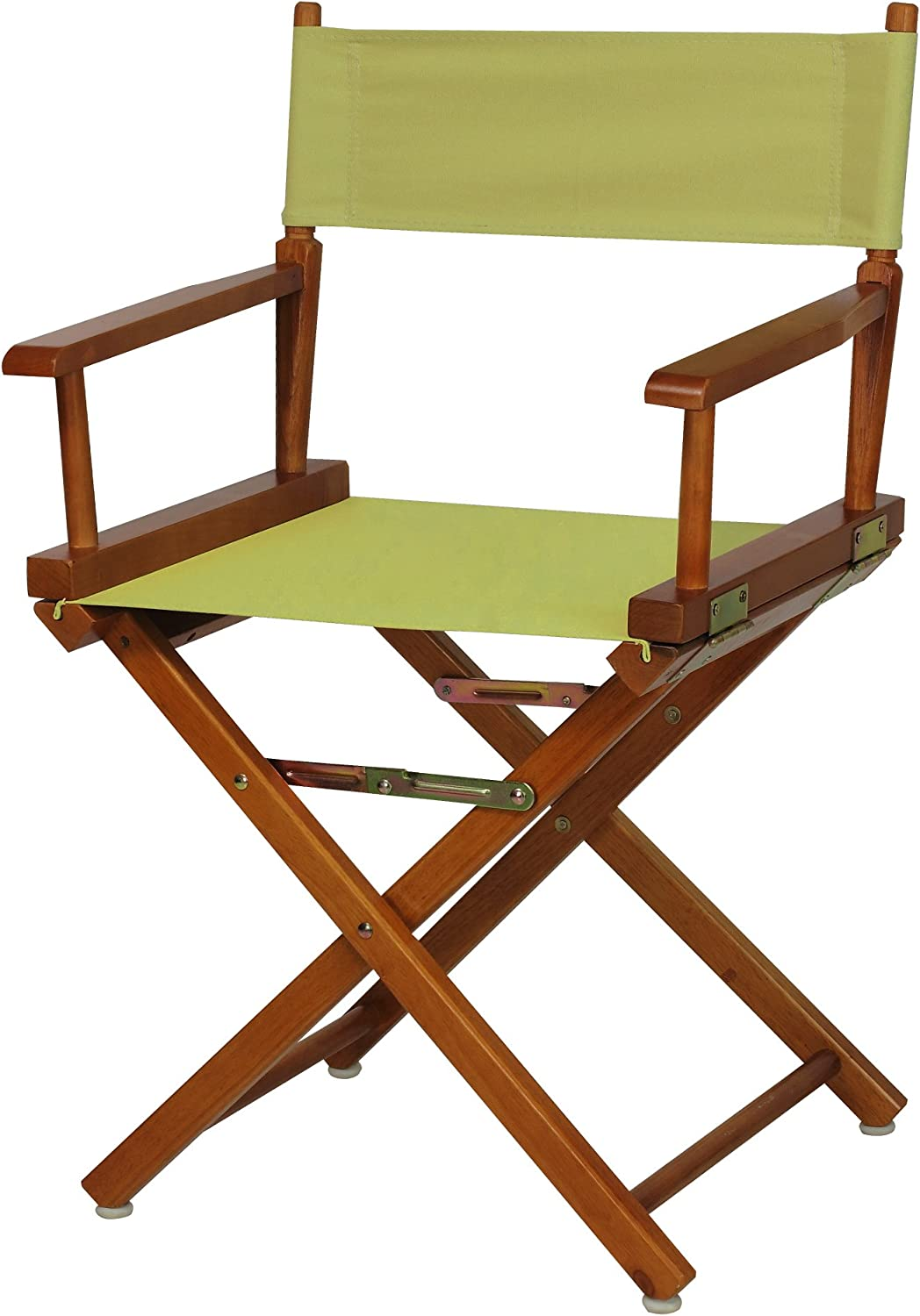 Casual Home 200-55 021-91 Director Chair 18  - Classic Height Honey OakFrame Sage Canvas