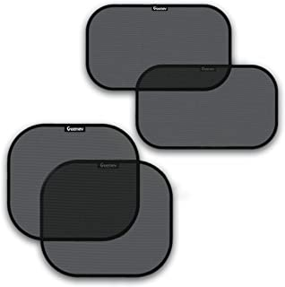 Best Car Sun Shades for Side and Rear Window (4 Pack) - Car Sunshade Protector - Protect your kids and pets in the back seat from sun glare and heat. Blocks over 98% of harmful UV Rays - Easy to Install, Review