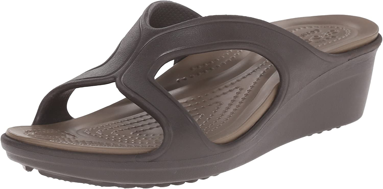 Crocs Women's Sanrah W Wedge Sandal Black