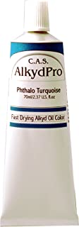 C.A.S. Paints AlkydPro Fast-Drying Oil Color Paint Tube, 70ml, Phthalo Turquoise