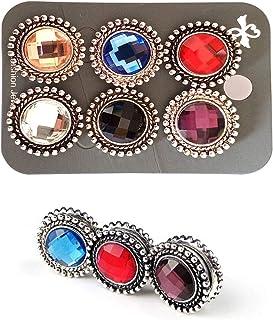 Fashion Tassel Gemstone Hijab Pins Button For Women Jewelry Gifts