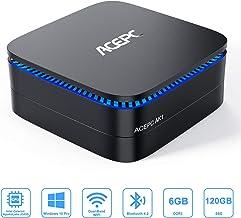 """Mini PC, 6GB RAM/120GB ROM Windows 10 Pro Mini Computer Intel Celeron Processor J3455 Desktop Computer Support 2.5"""" SSD/mSATA SSD/4K HD/Dual HDMI/Gigabit Ethernet/Dual-Band"""