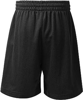 Hansber Kids Girls Boys Moisture Wicking Loose Activewear Shorts for Gymnastics Running Workout