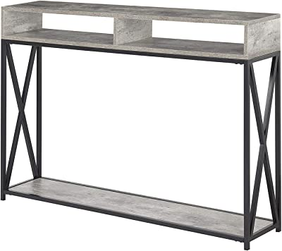 Convenience Concepts 161889BL Tucson Deluxe 2-Tier Console Table Black