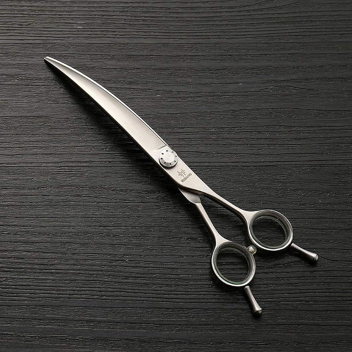 特許ルート反論Goodsok-jp 7.5インチペットグルーミングハサミ、ペットグルーマープロのヘアカットツールセット (色 : Silver)