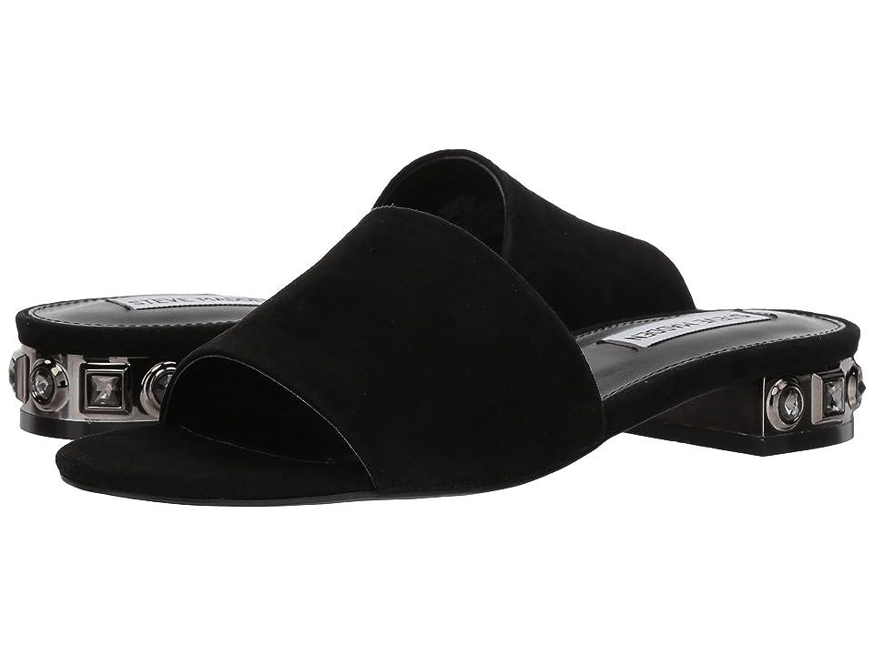 Steve Madden Costa Slide Sandal (Black Suede) Women