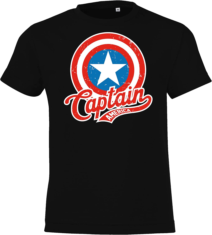 2-12 Jahre in vielen Farben TRVPPY Kinder T-Shirt Modell Captain America Gr