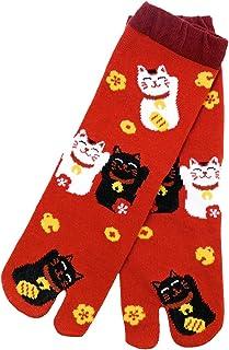 【京都くろちく】 New 文化足袋(招き猫) 和柄足袋靴下