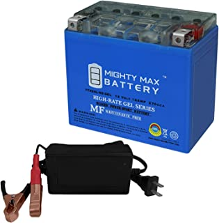 Mighty Max Battery YTX20L-BS Gel Replaces EverStart ES20LBS Powersprt + 12V 4Amp Charger Brand Product