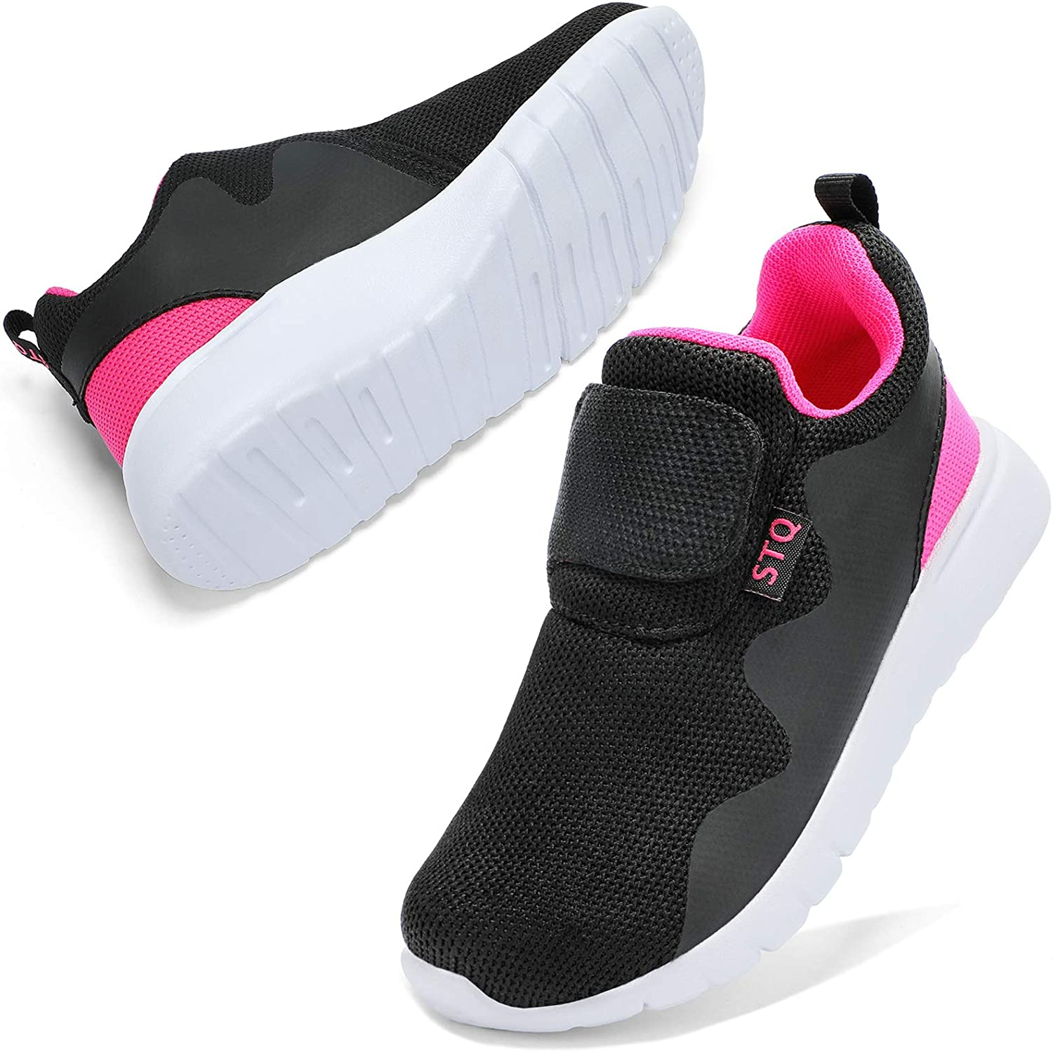 STQ Kids Shoes Boys Girls Athletic Running Shoes for Sport Outdoors Non-Slip Tennis Sneakers (Little Kid/Big Kid)