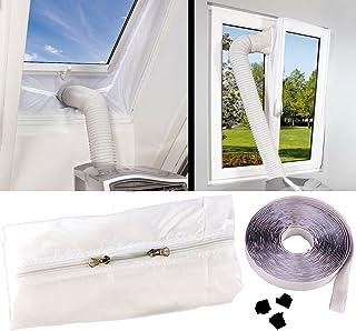 Sichler Haushaltsgeräte Klimagerät Zubehör: Abluft Fensterabdichtung für mobile Klimageräte, Hot Air Stop Fensterabdichtung Klimaanlage