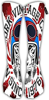 Randell Unisex Classic Knee High Over Calf Surfing Project Melbourne Beach Florida USA 3D Print Athletic Soccer Tube Cool Fun Party Cosplay Socks