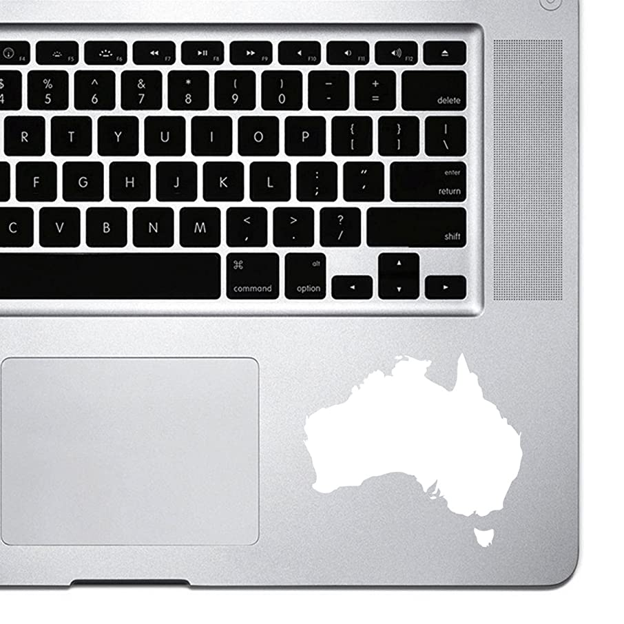 StickAny Palm Series Australia Silhouette Sticker for Macbook Pro, Chromebook, and Laptops (White)