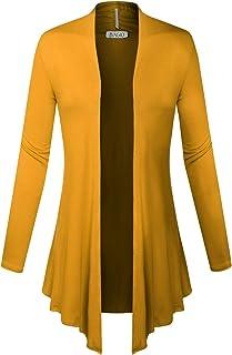 BIADANI Mujer Clásico Frente Abierto Ligero Drape Chaqueta de Punto Suave (S-5X)