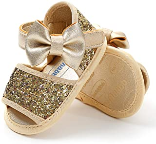 Infant Baby Girls Sandals Bowknots Summer Shoes Soft Sole...